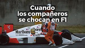Cuando dos compañeros de equipo se chocan en F1