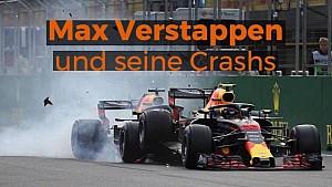 Verstappens Formel-1-Crashs