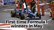 First-time Formula 1 winners in May