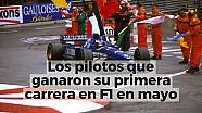 Los pilotos que ganaron su primera carrera en F1 en mayo