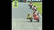 De overwinningen van Valentino Rossi op Mugello