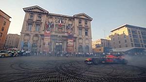 David Coulthard en démonstration à Marseille
