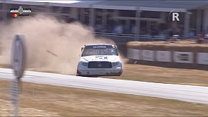 Mike Skinner goes off-road in a NASCAR truck at Goodwood FOS
